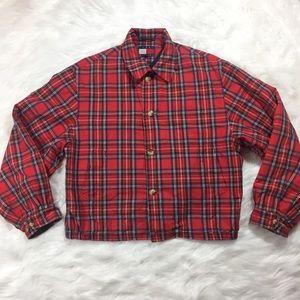 Vintage 90's Tommy Hilfiger Plaid Jacket Windbreak